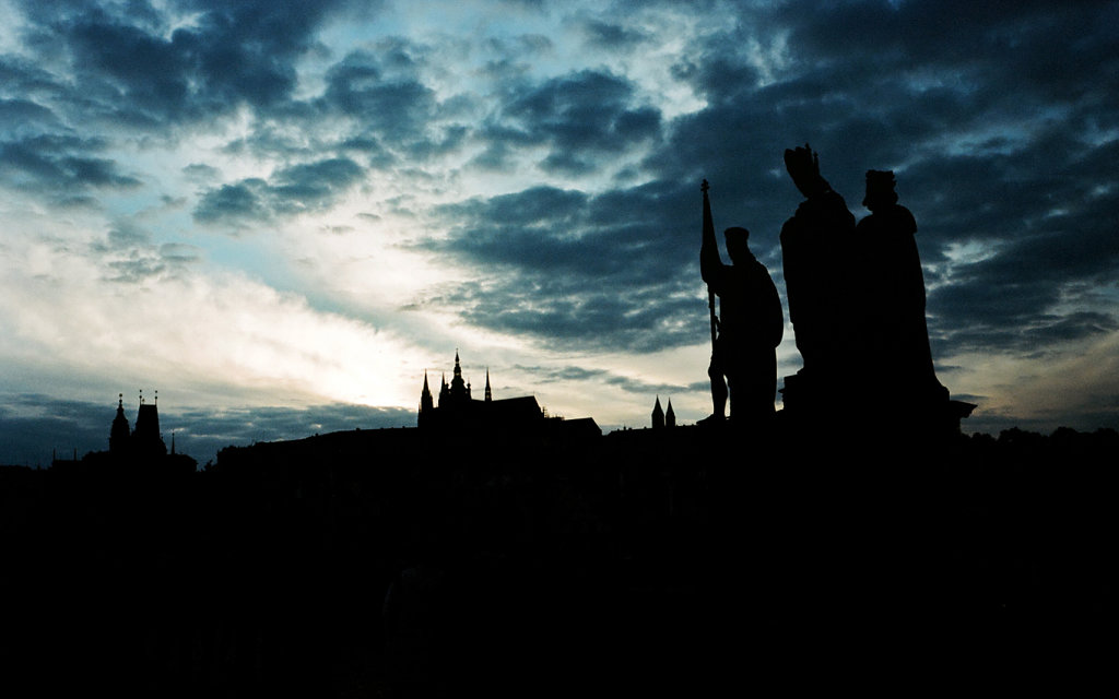 Summer sky over the Charles bridge