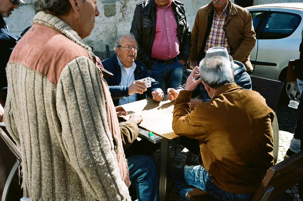 Card players (1), Lisbon, 2016